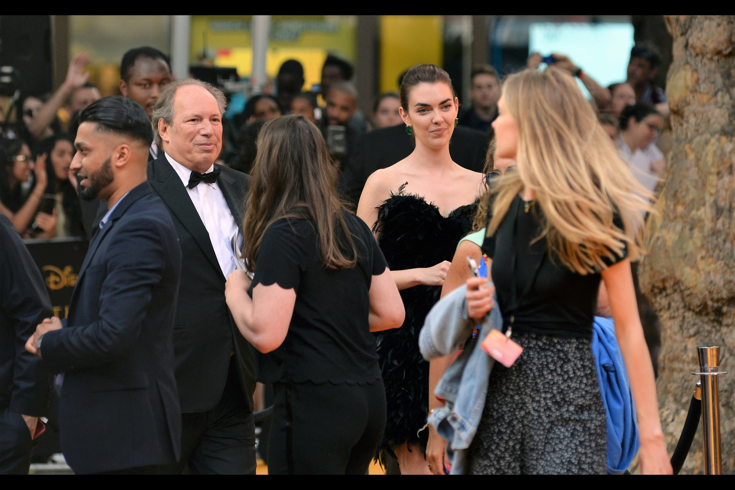 At left : it's Hans Zimmer!! He's won an Oscar (appropriately for 'The Lion King' (1994)') and been nominated another TEN times. I've previously photographed him at such premieres as    Man of Steel   ,    Rush   , and    Batman v Superman   …    The Dark Knight Rises   … and so on.