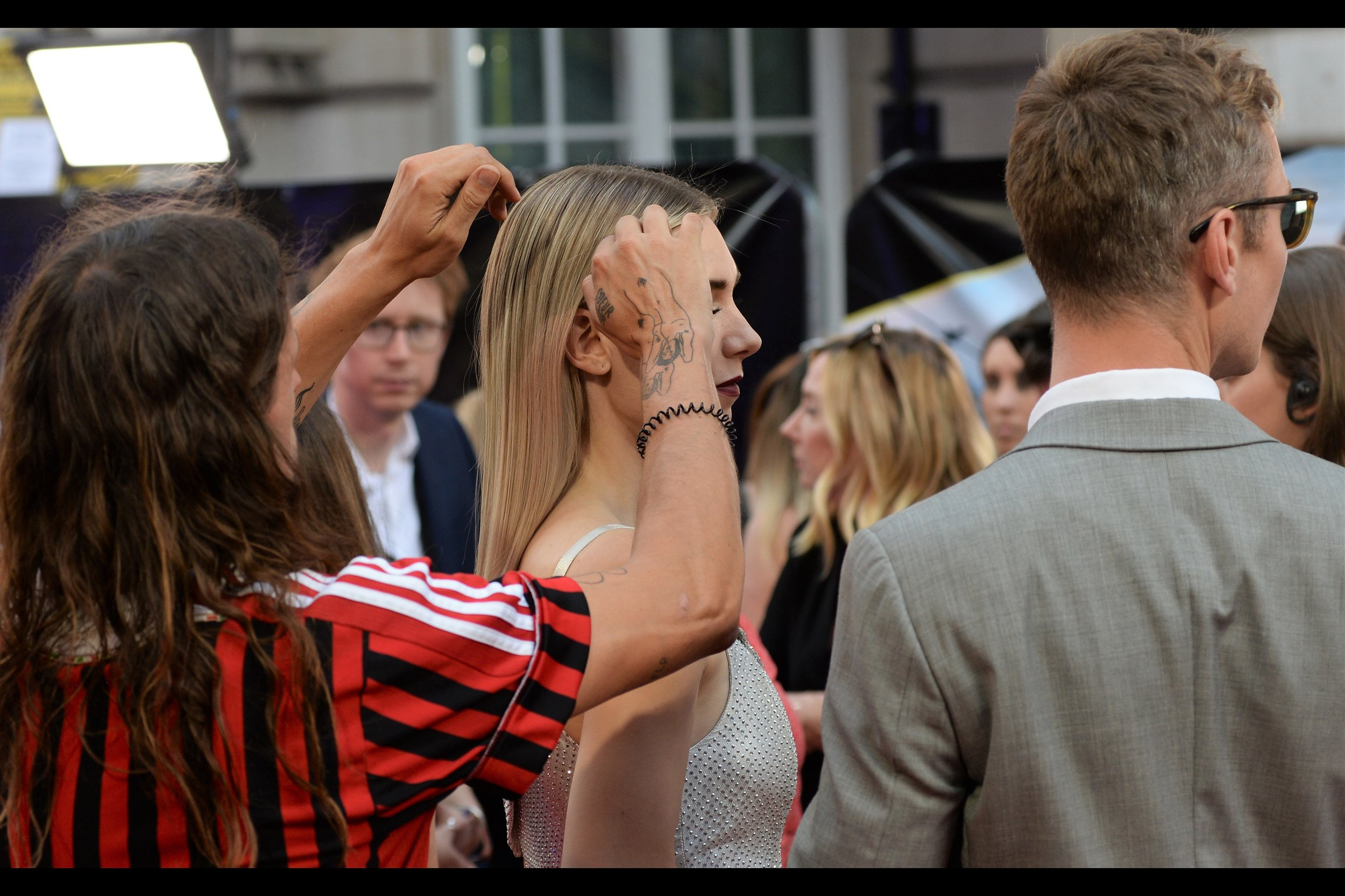 """""""That last breeze cost us ten misplaced hairs, Vanessa… your ongoing recklessness is tearing at my soul…""""  The Grooming Of Vanessa Kirby, also known as """"The Hobbs & Shaw Premiere"""" continues…"""