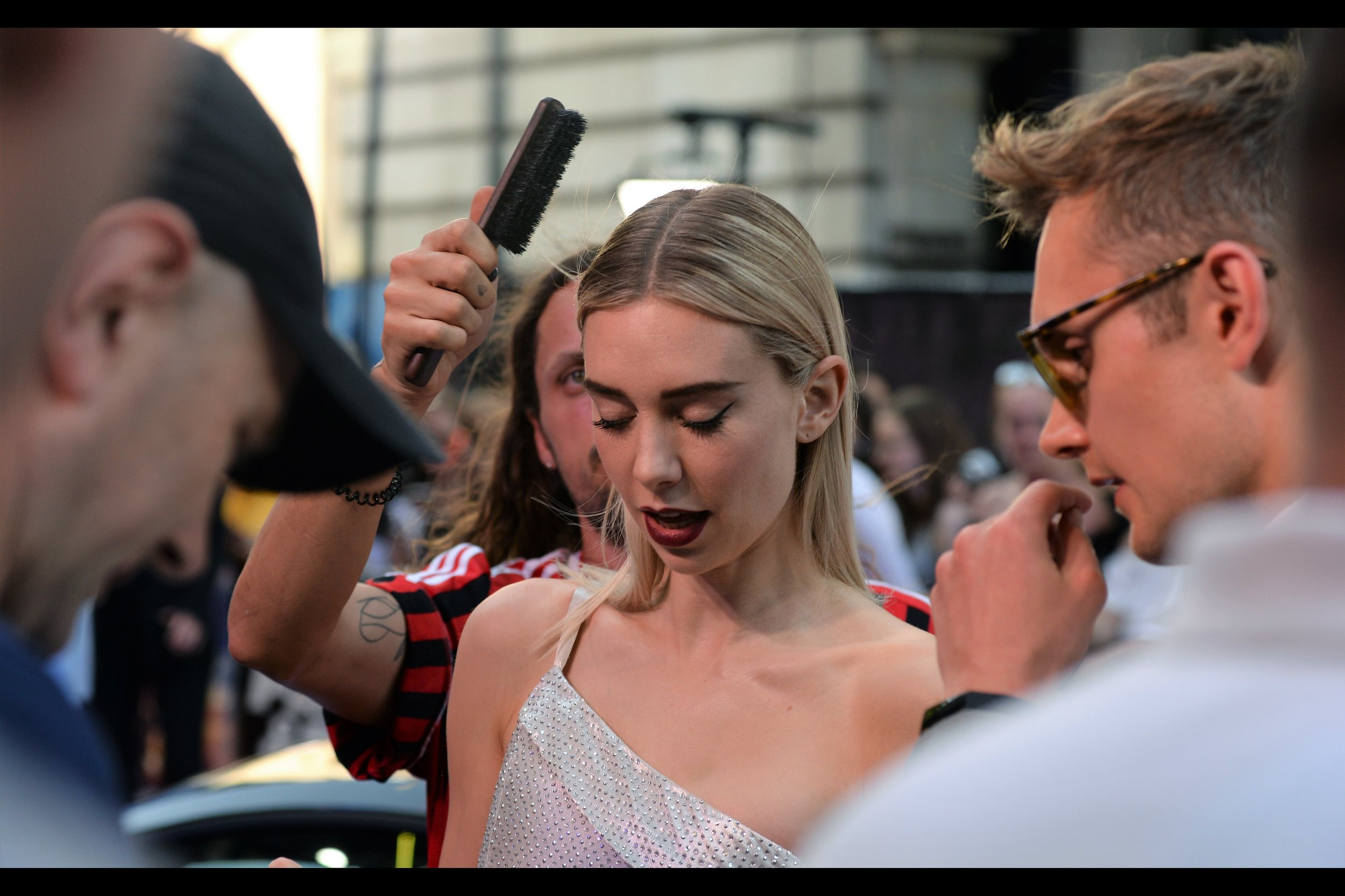 """""""I came as soon as I could, Vanessa, and I might just have gotten here in time to save this premiere from complete disaster"""" """"Okay…. but is it all right if I keep signing while you brush my hair?"""" """"You might as well ask if you can keep doing open heart surgery while drinking your third cocktail…."""""""