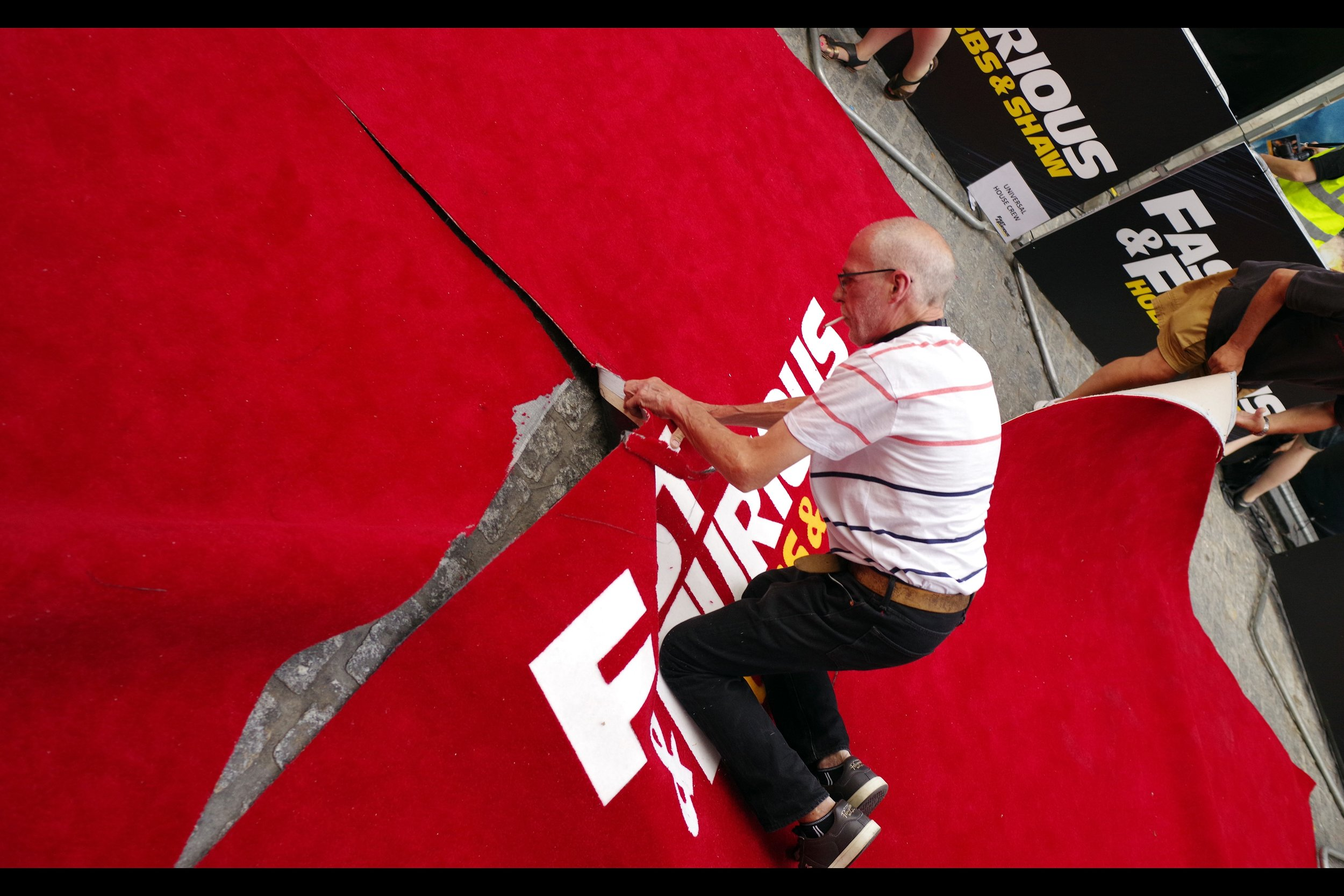 It wasn't a fast premiere (almost an hour long), and it certainly wasn't furious (everyone was cheerful and friendly) - but they sure started clearing the carpet, barriers and setup quickly afterwards.