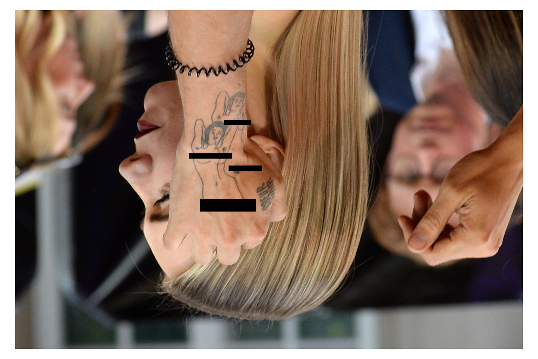 Tattoo detail of Vanessa Kirby's hairstylist   (Please remember to get an adult's okay before viewing Adult Content on this website)
