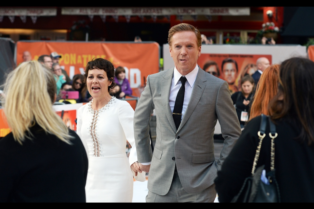 """But he's been in a Tarantino Movie!! Well, no you wouldn't have seen it - it's only just been released! And I'm with him!""  Damian Lewis is indeed in this movie - he plays Steve McQueen (the actor, not the director). His wife is actress Helen McCrory - not in this movie"