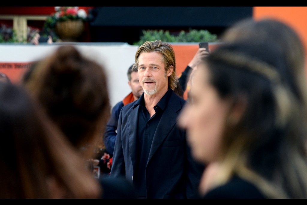 """Y'all liked 'Seven Years in Tibet' THAT much, huh?""  It's Brad Pitt! I've only previously photographed him at    the premieres of 'Allied'    and (from a great distance with a wide-angle lens) at    'World War Z'."