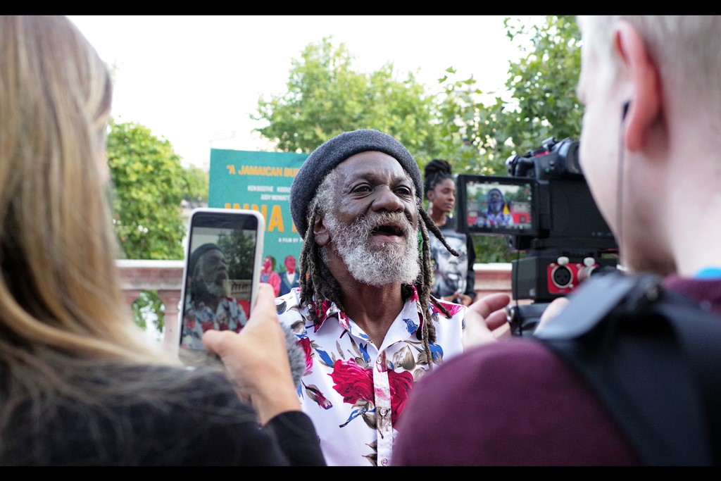 """""""I know black'n'white is considered very artistic, but if I find this shirt has been converted to monochrome by any of you people, words - and unpleasant ones - will be spoken"""" -  Winston McAnuff is in this movie."""