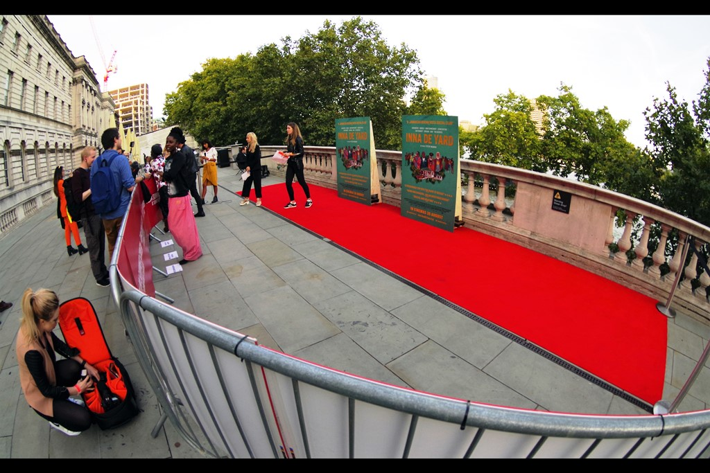 """""""The yellow carpet band is about 15minutes away on a bus, the black 25 minutes away in an uber, and the green is currently being used for an impromptu childrens party and might not get here for another few hours…"""""""