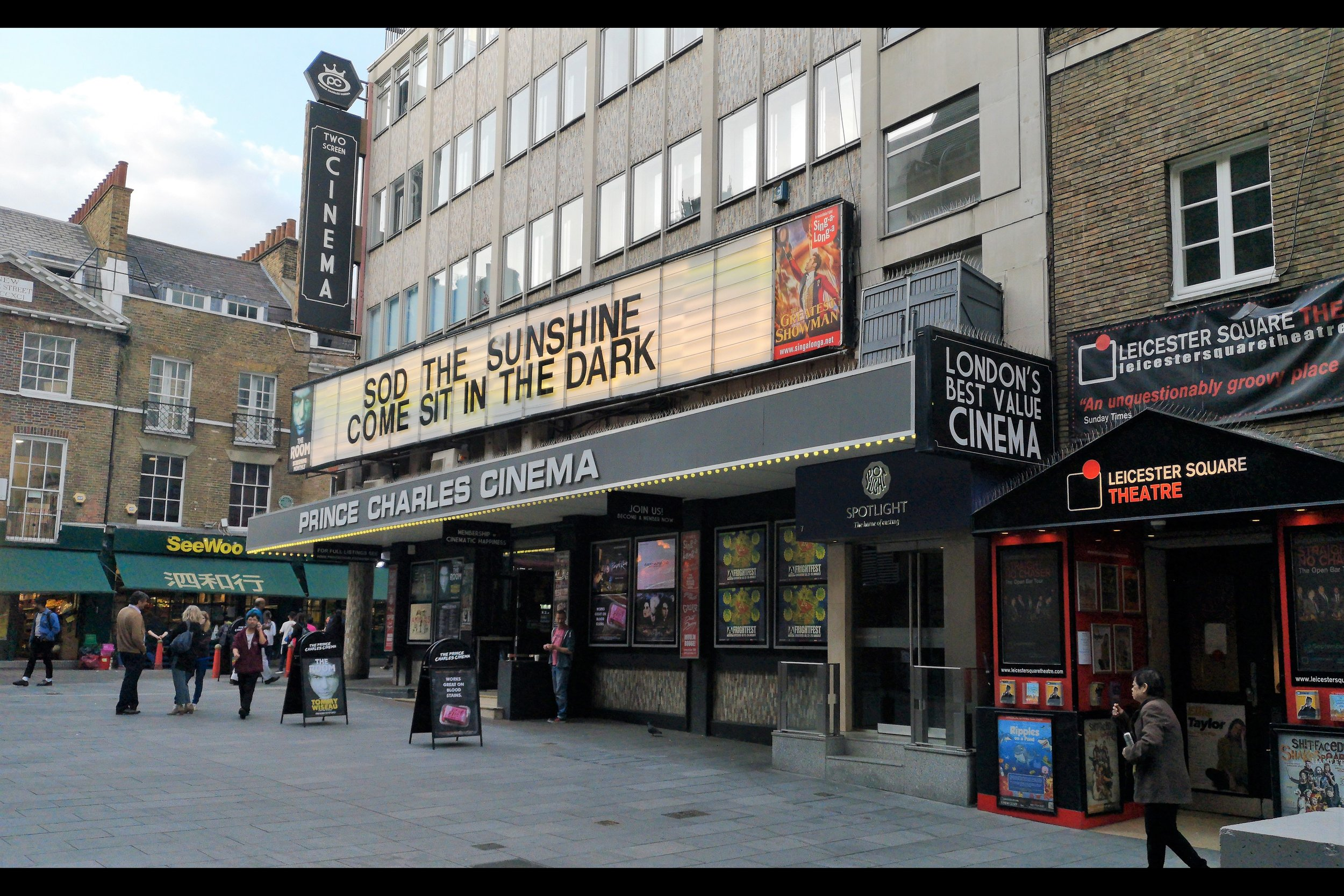Surprisingly this is NOT a custom Frightfest marquee on the exterior of the Prince Charles Cinema, one of two cinemas hosting part of Frightfest 2019.
