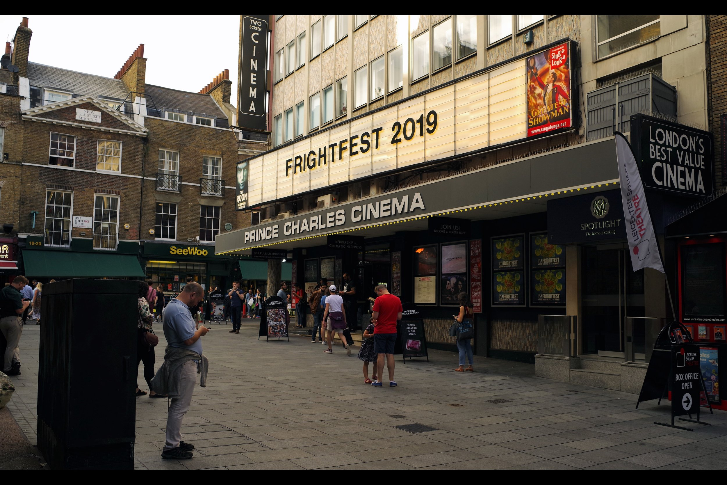 The Prince Charles Cinema is one of two cinemas hosting Frightfest - I'll be seeing 'The Dark Light' there on Sunday, but for today (and most of the premieres) it's…..