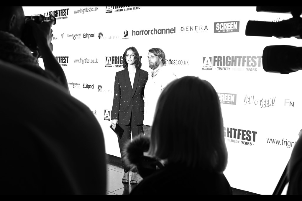 """""""We'll stop posing when we stop looking fantastic, and that's certainly not happening anytime soon""""  It's Kaya Scodelario (actress, left) and Alexandre Aja (director, right)"""