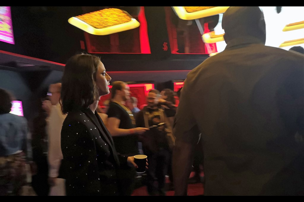 Having introduced the 8:30pm screening, Kaya Scodelario nimbly weaves to the next cinema, sidestepping distracted autograph dealers with considerable skill. I had my mobile handy…