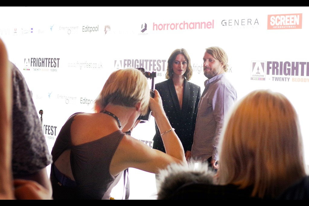 """It's Frightfest Day1, with Kaya Scodelario and Alexandre Aja for the Alligators-during-a-Hurricane opus    """"Crawl"""""""