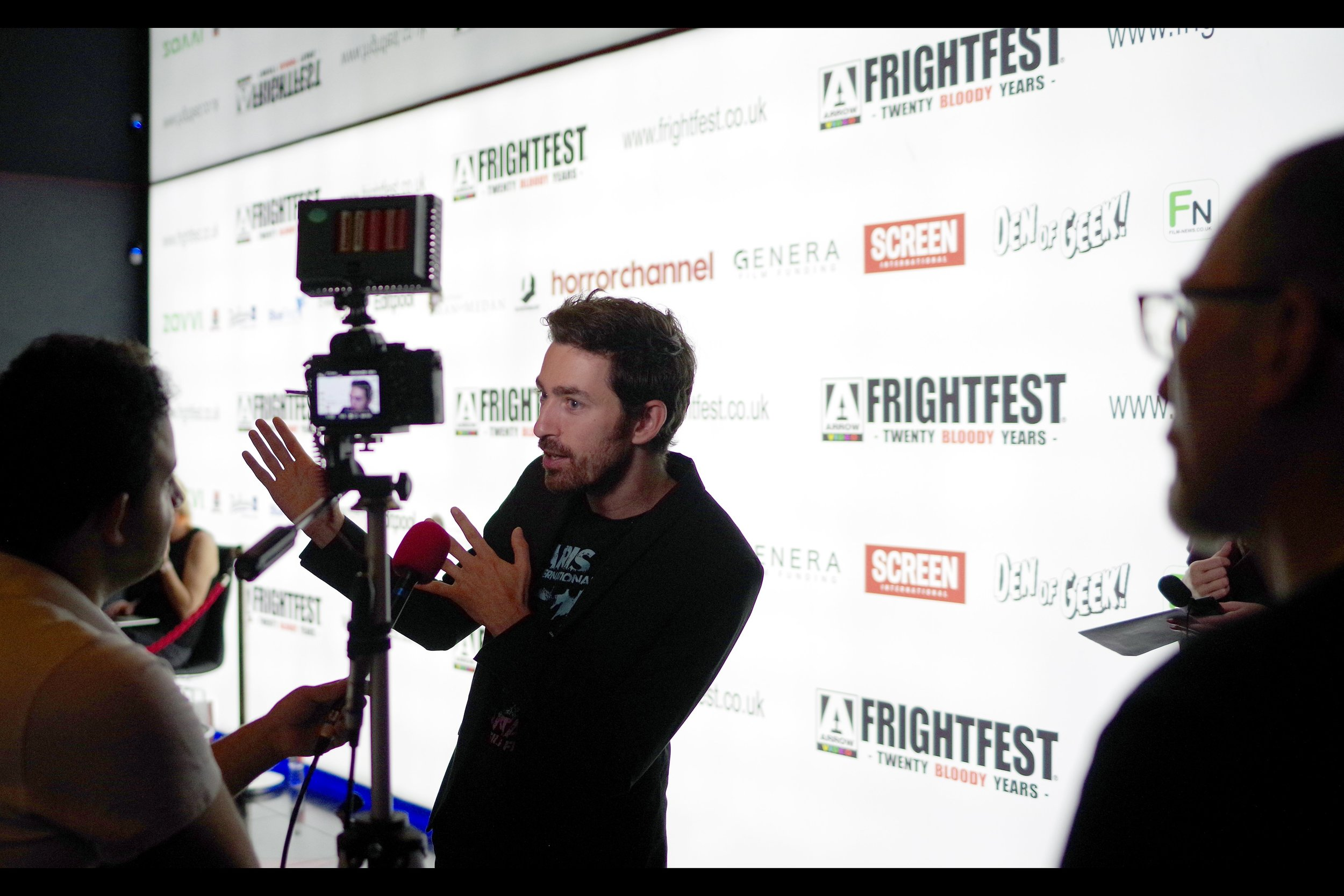 "Photographed a short time later (and with the Pentax), at another Frightfest premiere… UNKNOWN DIRECTOR (I'd missed the premiere of ""Bliss"", sadly…)"
