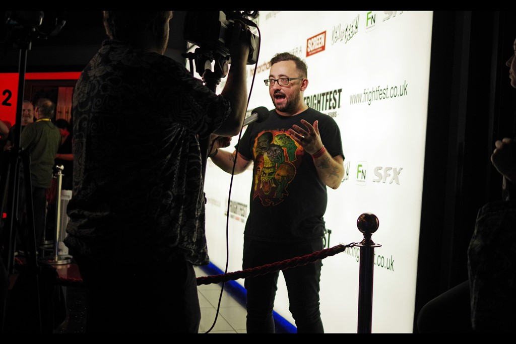 """""""I wore a Frightfest T-shirt to promote my movie at this Festival. You can't get any more Team Player!""""  I believe this is director Paddy Murphy"""