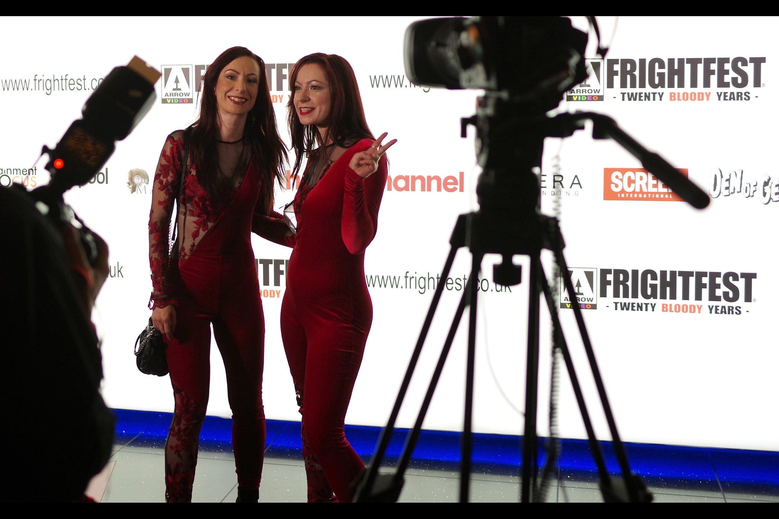 I like the Soska Sisters. They are the ideal unofficial ambassadors for Frightfest - relentlessly enthusiastic, cheerful and happy, and demons on social media!