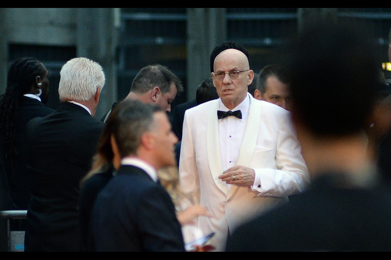 """My kingdom for a white bowtie… anyone? ANYONE??""  Writer James Ellroy won the ""Writer of the Year"" award… and indeed he has written a book this year (I always make sure to check, as the GQs are kinda notorious for awards given to Cool People On Pretext We'll Figure Out Later)"