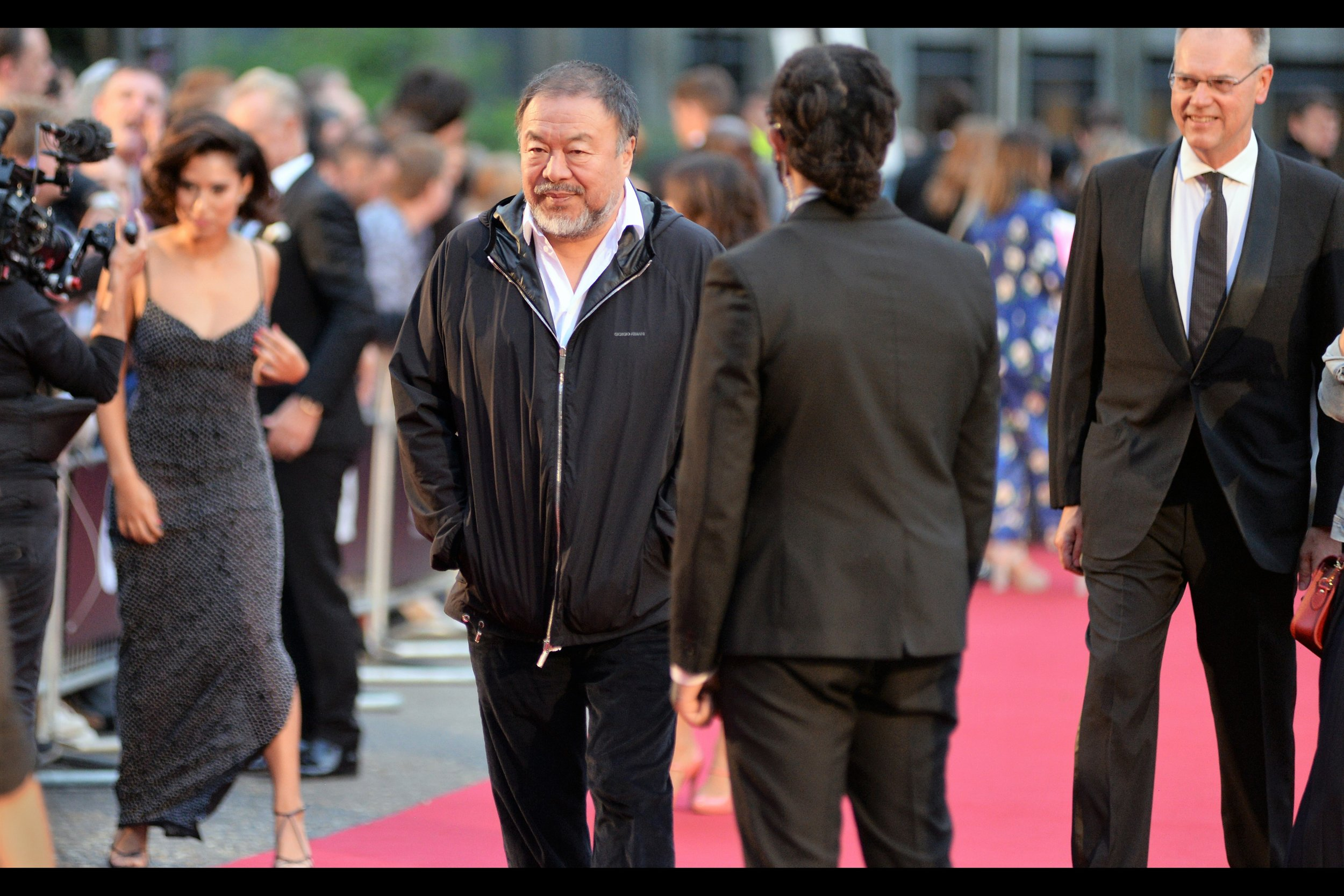 """Man In Parka"" turns out to be Chinese artist Ai Weiwei, recipient of the ""Maddox Gallery Artist"" Award. He's a pretty important artist, I say, using all the cachet that a Business Degree and a job that involves spreadsheeting can bring to bear on such a judgement."