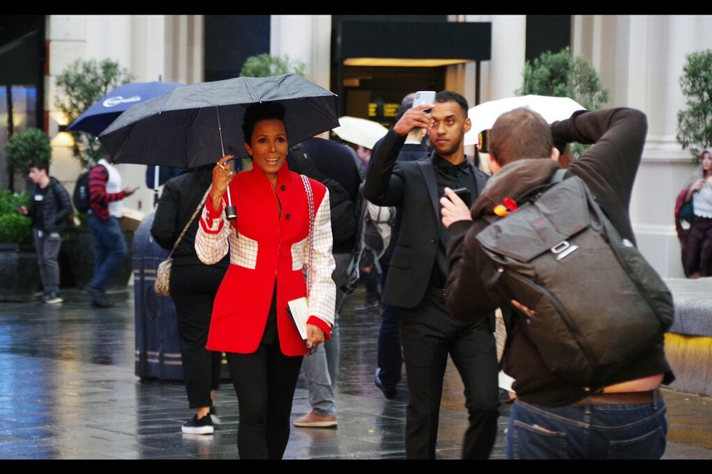 """""""If you really want to know who I'm wearing, it's really not necessary for you to take a photo and do a reverse image search… you could totally just ask""""  I actually know who Dame Kelly Holmes is - she's a former British Olympian."""