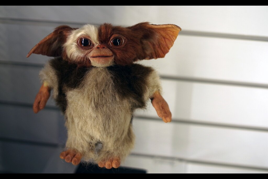 Keep away from water! (Also keep away from Cherry Pepsi Max. Different problem, just as problematic). Gizmo Stand-in puppet, Gremlins2 : The New Batch. Estimate: £8,000 - 10,000 (winning bid : £9,840)