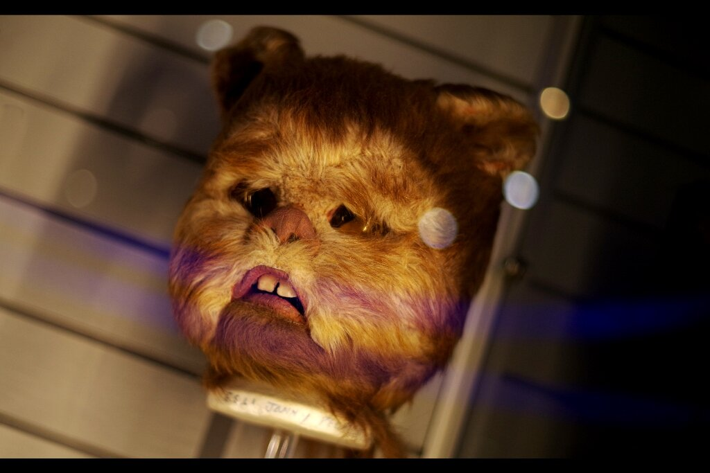 """""""What do you mean they made more sequels? Didn't we win?""""  Ewok mask from Return of the Jedi. Estimate: £40,000 - 60,000"""
