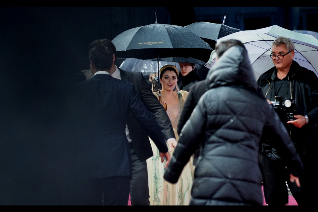 """""""I prefer not to stand under branded umbrellas… unless you have some Aston Martin ones?""""  Gemma-Leah Devereux is best known for five episodes of The Tudors and possibly 14 episodes of something called 'Casualty'… however she plays the very famous Liza Minelli in this film."""