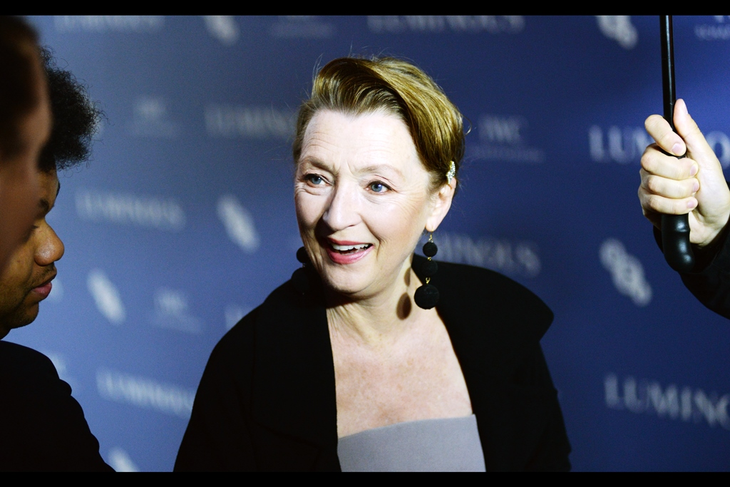 """You saw The Phantom Thread? How wonderful… or are you just talking about your wardrobe on anygiven day?""  - Lesley Manville was Oscar nominated for her role in that… and she also played the Fairy 'Flittle' in the live action film 'Maleficent' whose sequel is getting a premiere during (but not in association with) London Film Festival."