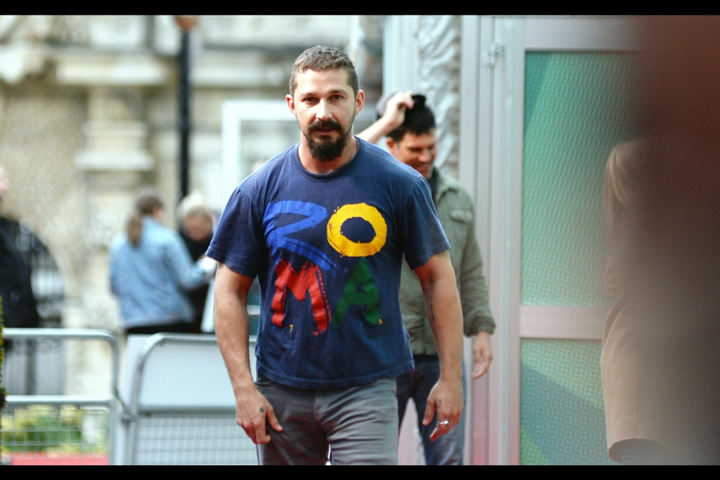 Shia Labeouf seems more comfortable with THIS side, which is good because I'M on that side.