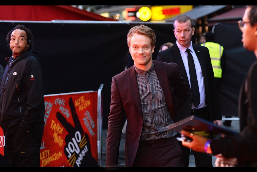 """""""Shirt with no tie, obviously. Why… what did Archie tell you?""""  Alfie Allen is best known for playing the role of Theon Greyjoy across most of Game of Thrones."""