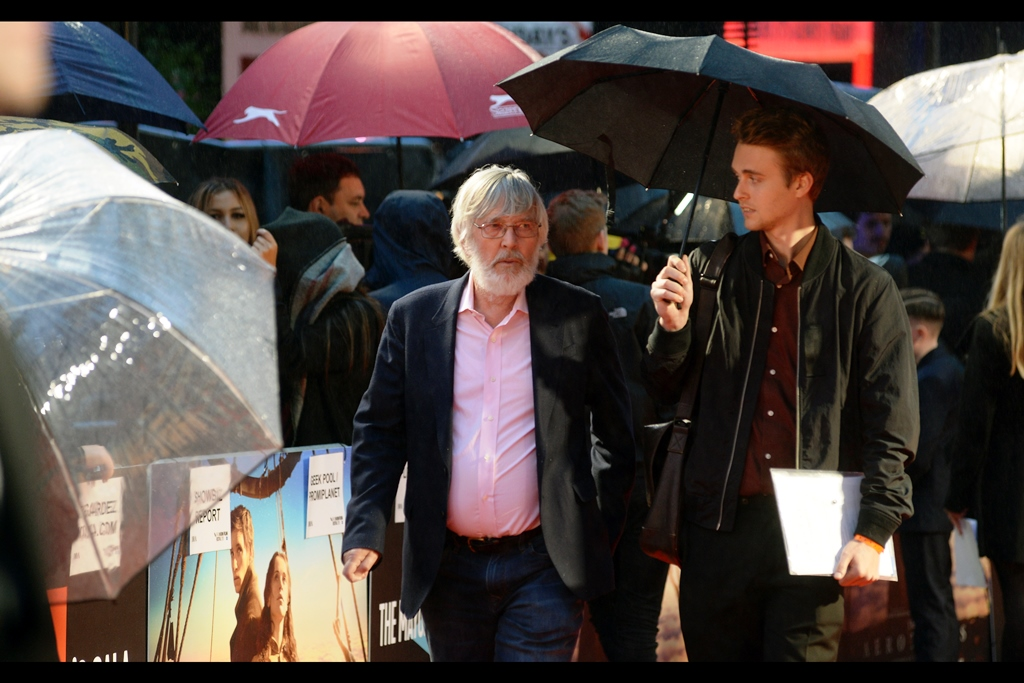 One drawback of my distant position was that I couldn't photograph The List of Attendees from anywhere in the media pen. So I was quite impressed that I was able to recognise Tom Courtenay as a random attendee… until I checked    imdb.com    and found out that he's in the movie.