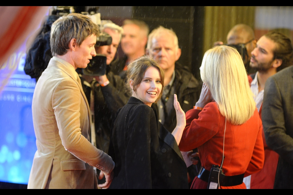 """""""You keep mentioning Jupiter Ascending… and I'll do the same""""  Felicity Jones and I appear to have made an alliance"""