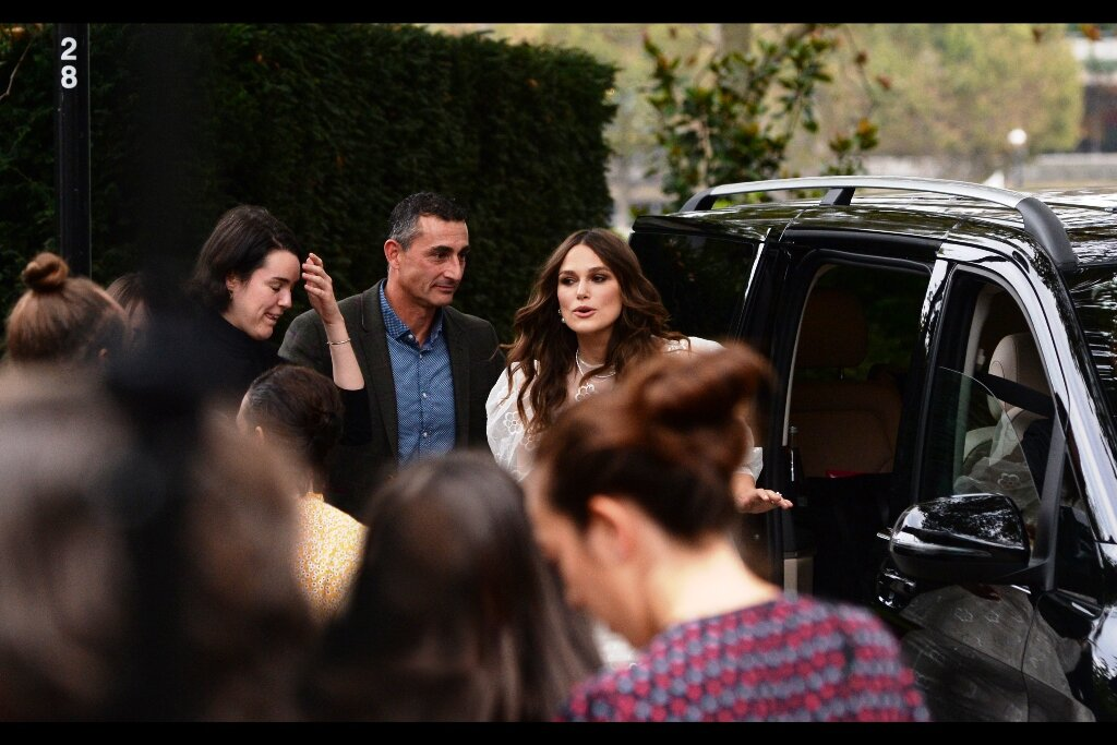 """""""Am I late? Did I miss the premiere? I can get the driver to circle the block a few more times if necessary?""""  Keira Knightley was last to arrive, and only somewhat late, depending on whether the expectation was that she'd do Interviews along the entirety of the media pen."""