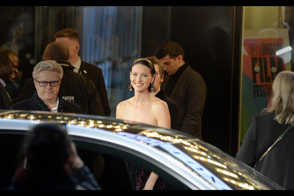 This photo of Caitriona Balfe pretty much makes waiting for the stars of the film to leave worth it…. and it had better be, because I missed out on Noah Jupe.