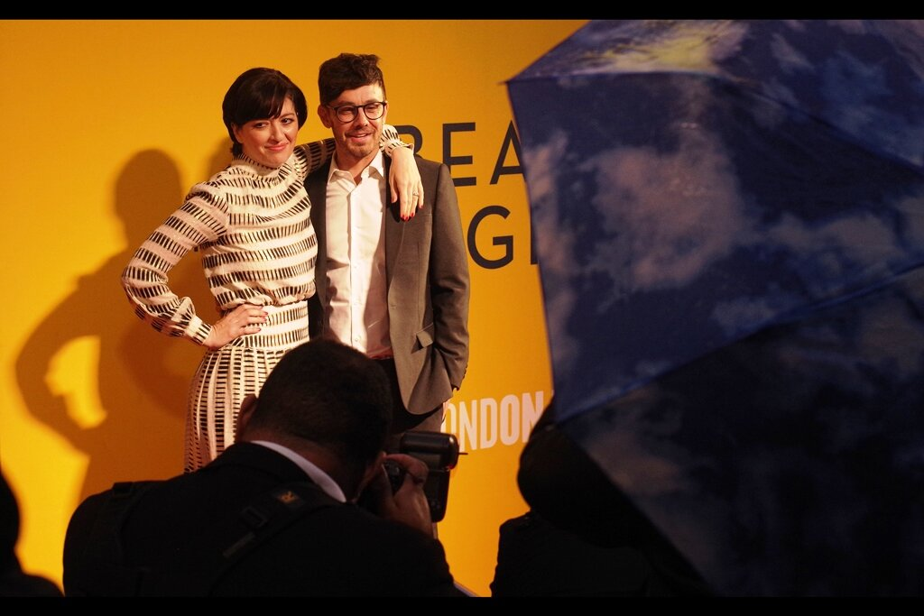 """""""This is costing me almost everything I have, emotion-wise. Deal with it.""""  The man Marielle Heller is hugging, incidentally, is Jorma Taccone - not just her husband, but a member of the comedy Trio The Lonely Island (and also the voice of Lego Shakespeare in The Lego Movie)"""