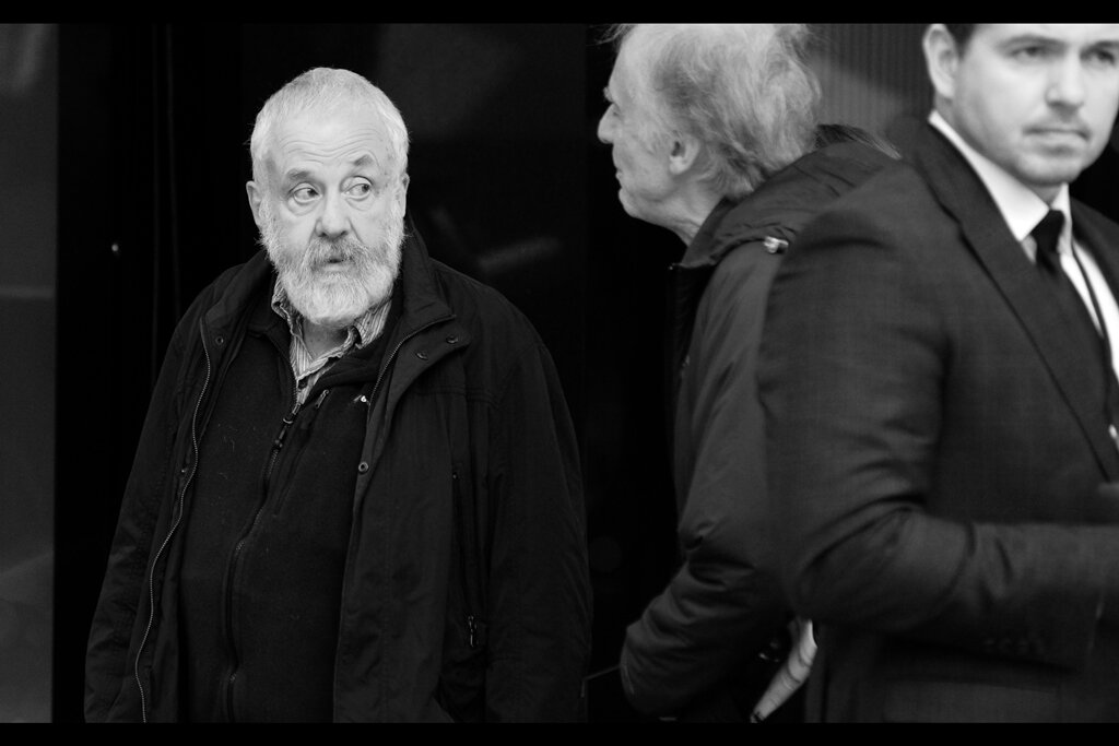 "Our first ""guest"" is actually not an arrival but a departure : 5 time BAFTA winner (and 7 time Oscar Nominee) - writer/director Mike Leigh, who left the screening that preceeded this premiere."