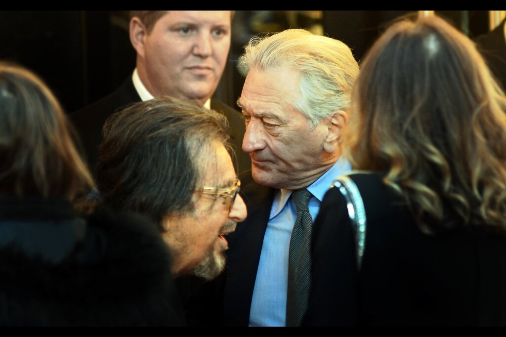 """You were good in that Thing"" ""Yeah, you too…""  Pacino and De Niro in the same photo. That ain't bad either."