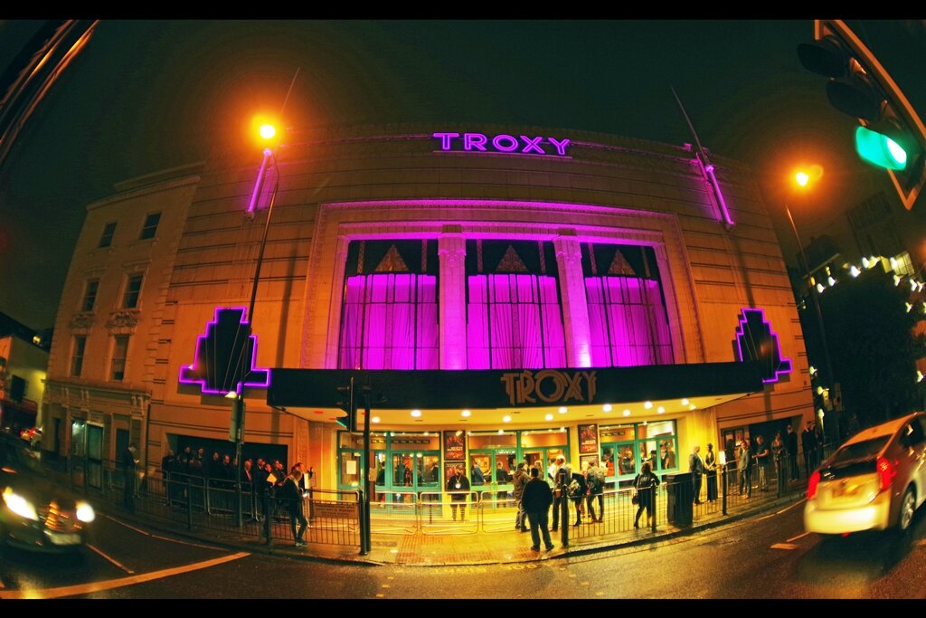 The Troxy in Limehouse. I've never been inside, but I've been told it's quite nice. I don't know… I have pretty low standards so I kind of almost recommend the footpath outside it.