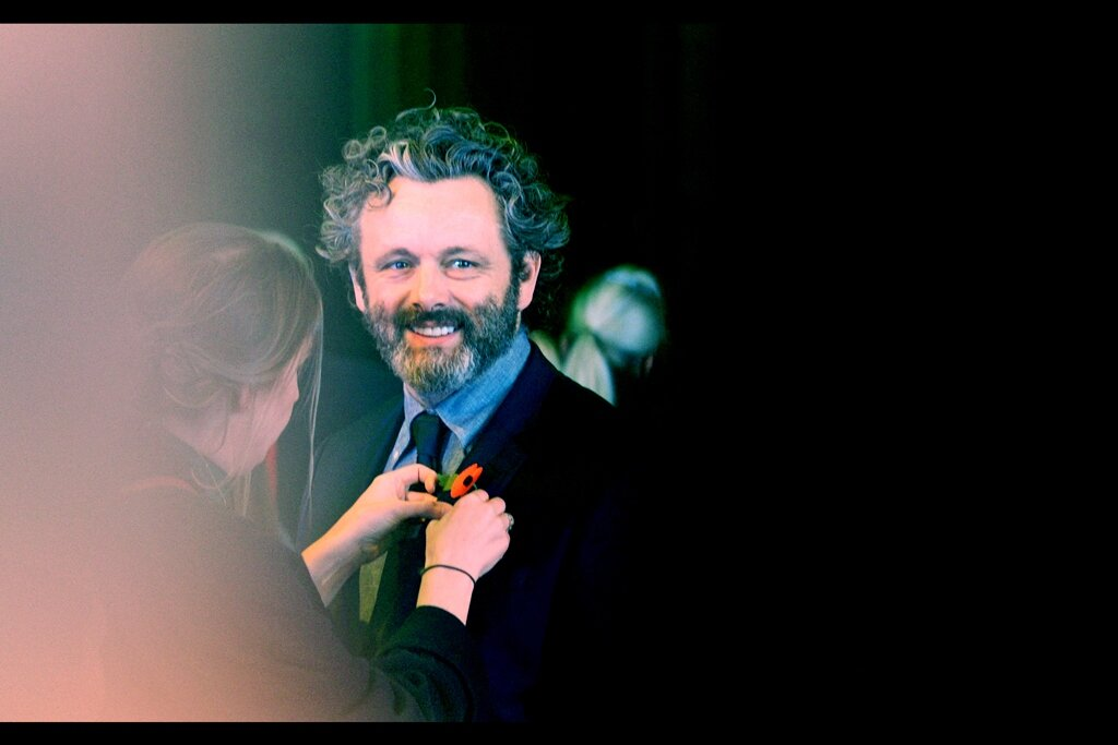 """""""This lovingly placed poppy will hopefully distract everyone from remembering how you were in those Twilight movies…"""" """"And now that you've mentioned it, you've ensured it won't happen. Thanks for that""""  Michael Sheen was in those movies, but he's also arguably one of the best things in those movies."""