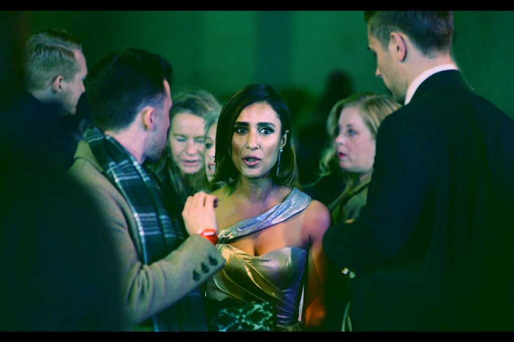 """""""The dress isn't missing ANYTHING - Asymmetry is IN this year, and there's still almost two months to go""""  Anita Rani is a broadcaster/journalist, and excitingly, the orange exterior pocket on my jacket means that what I'm wearing right now is ALSO asymmetrical!"""
