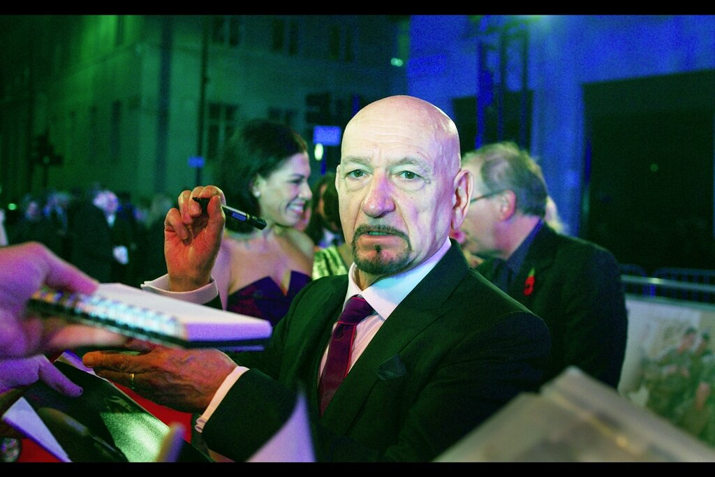 """""""I think you might have mistakenly forgot to include the """"Sir"""" in that request…""""  It's Oscar-winning actor (Gandhi, 1982) Ben Kingsley!! (I'm sorry : SIR Ben Kingsley!!)"""