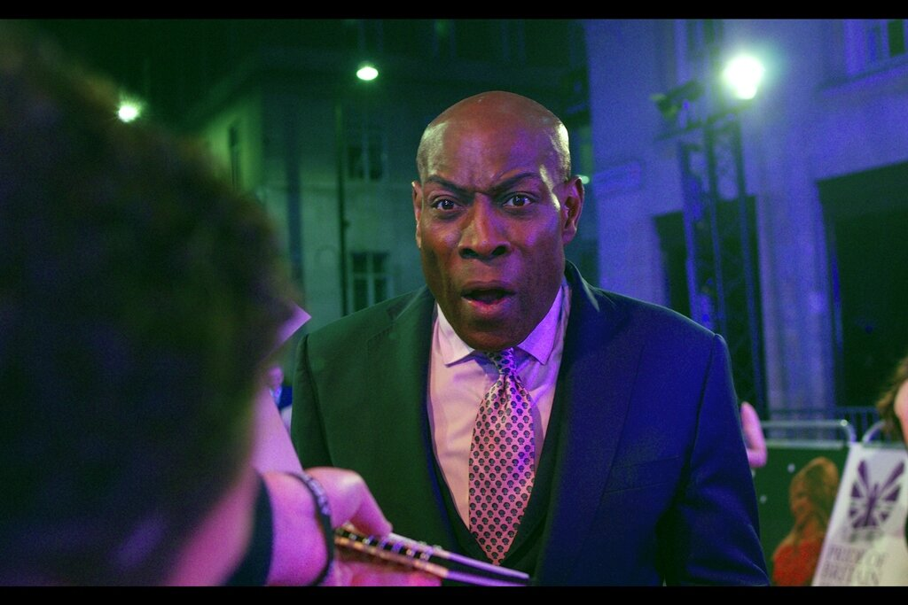 """""""You will disappoint me, my right hook, and my left jab greatly if you don't know who I am.""""  Fortunately, I have heard of Frank Bruno - he was a champion boxer (and I know this in part because I photographed him at LAST year's Pride of Britain Awards)"""