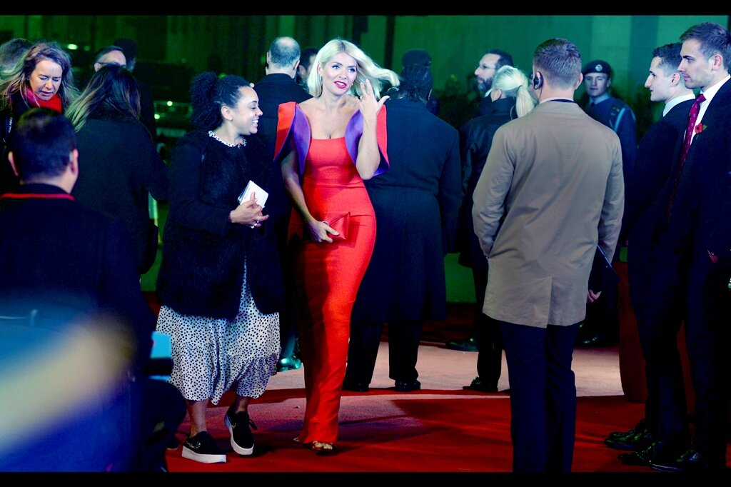Holly Willoughby is… you know… wearing a dress on a carpet in London. That's all I have for now. Let's just say that by now the fact I don't pay for a TV License because I don't watch TV is becoming fairly evident to anyone reading this.
