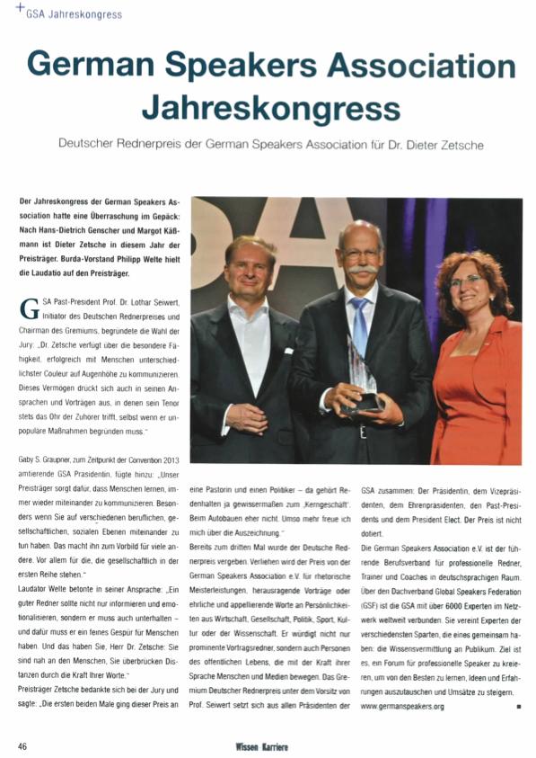 Verleihung des Deutschen Rednerpreises 2013
