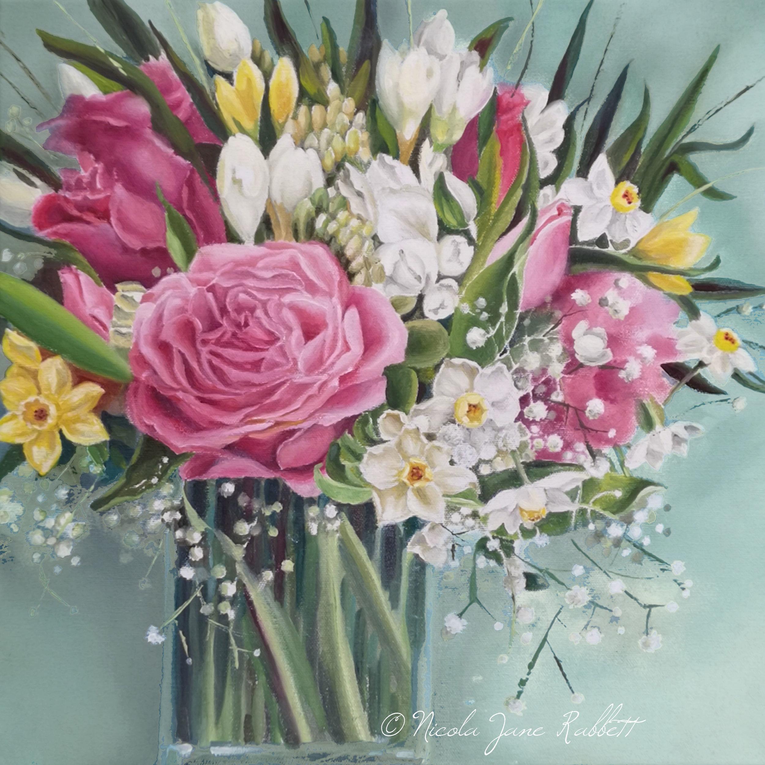 Spring Floral BouquetGreen background © J.jpg