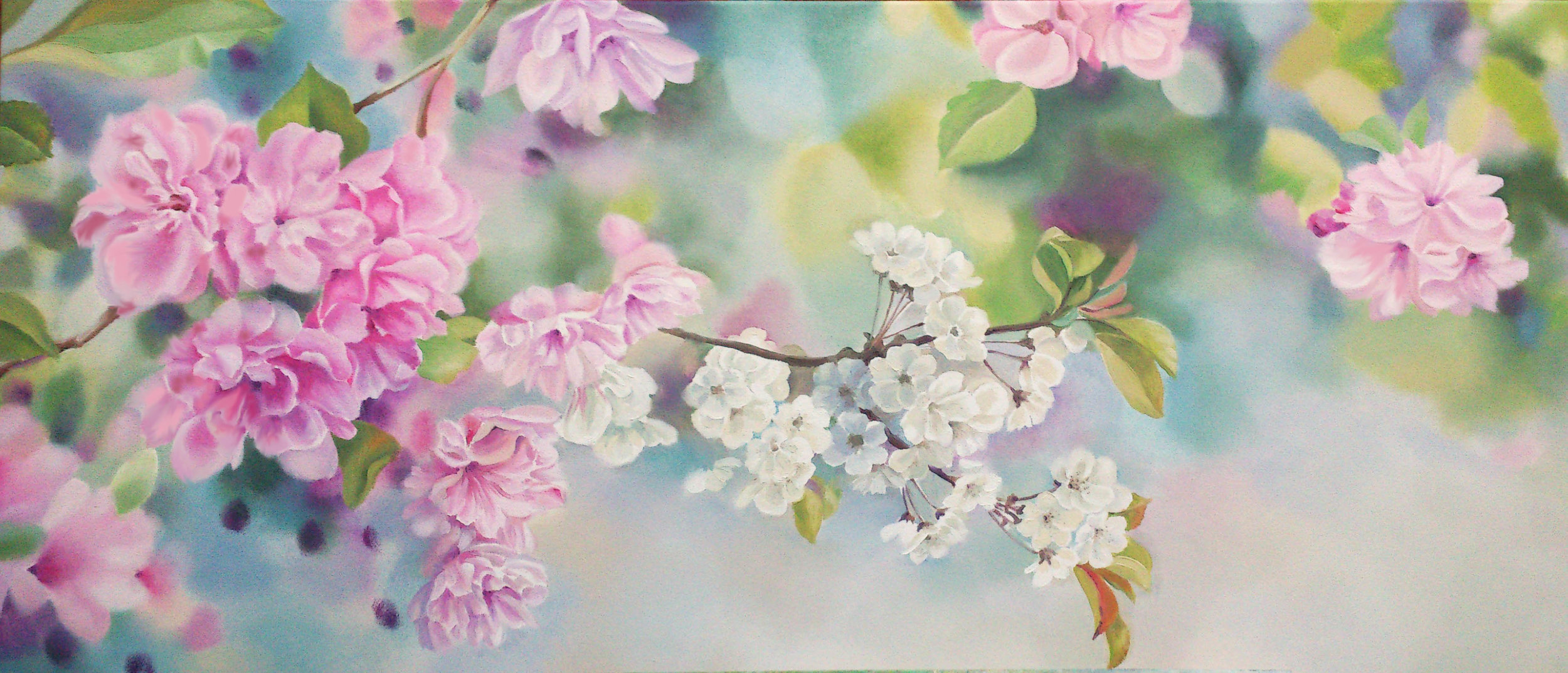 "CHERRY BLOSSOM - ""Wow! It is stunning, I can't wait to put it up. We are super excited"" - Lindsay Hall"
