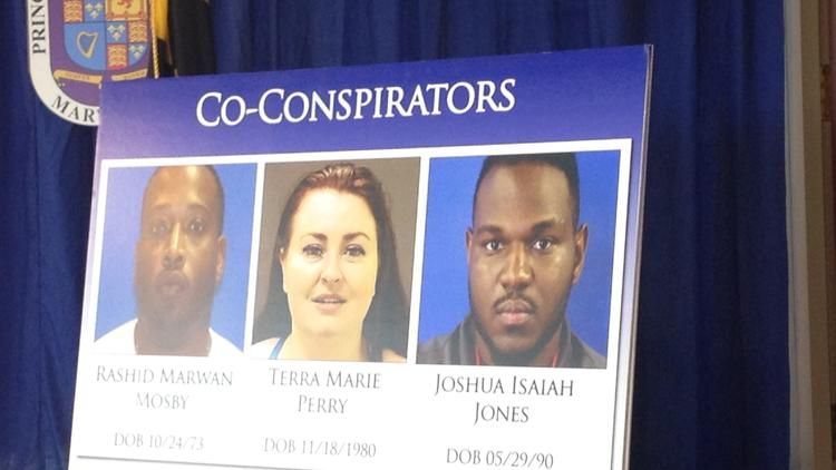 Rashid Marwan Mosby, Terra Marie Perry and Joshua Isaiah Jones face human trafficking charges.(Jessica Anderson)