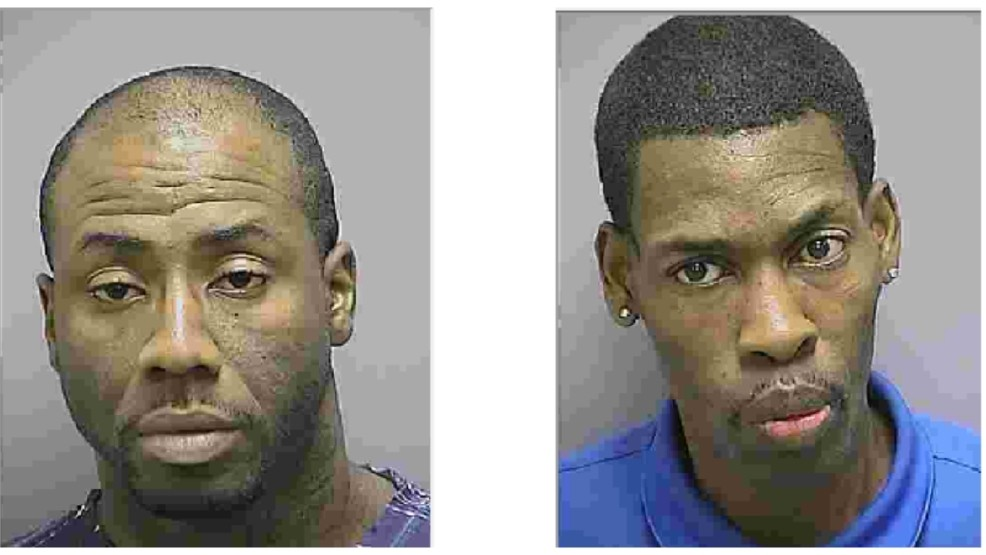 Thomas Jones (left) and Marvin Armstrong (right) were arrested and charged with rape and human trafficking (Photo: Frederick Police)