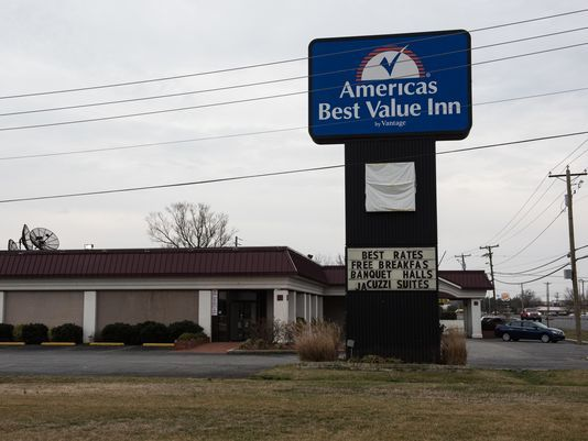 An exterior view of America's Best Value Inn on North Salisbury Boulevard on Wednesday, Feb. 22, 2017. (Photo: Staff photo by Ralph Musthaler)