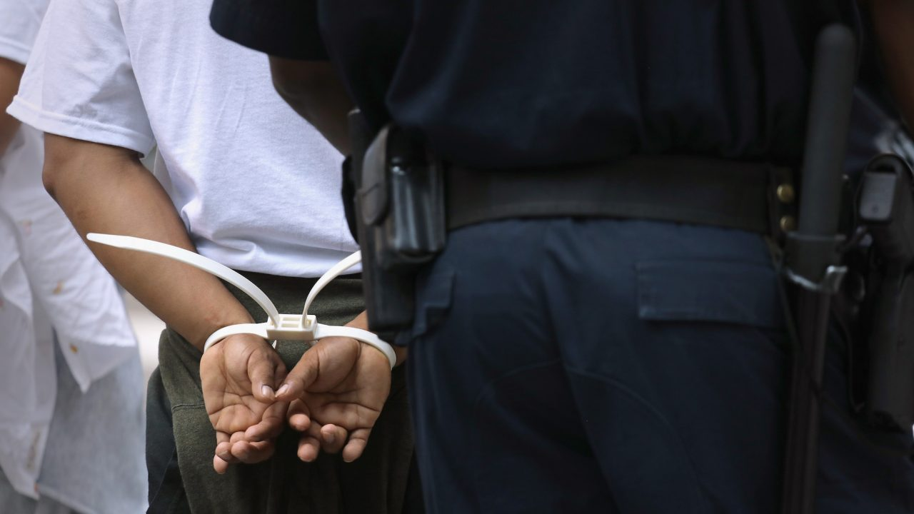 A West Virginia man was charged with human trafficking after allegedly taking his wife to a hotel to engage in prostitution, the Herald-Mail Media reported. (John Moore/Getty Images)