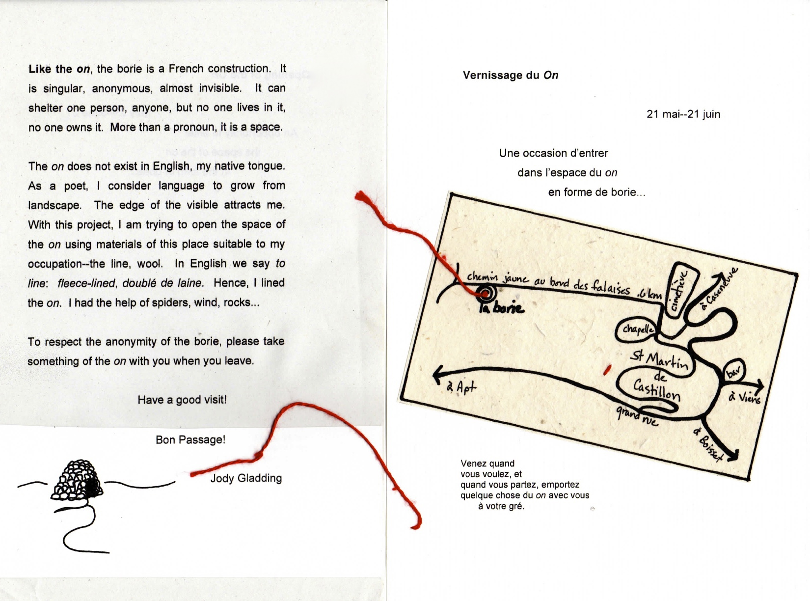 Invitation to the Opening of the  O  n. (back/front)