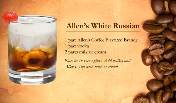 Allen's White Russian made with Allen's Coffee Flavored Brandy
