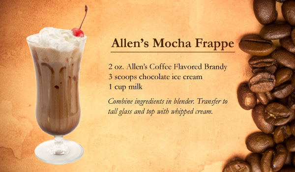 Allen's Mocha Frappe made with Allen's Coffee Flavored Brandy