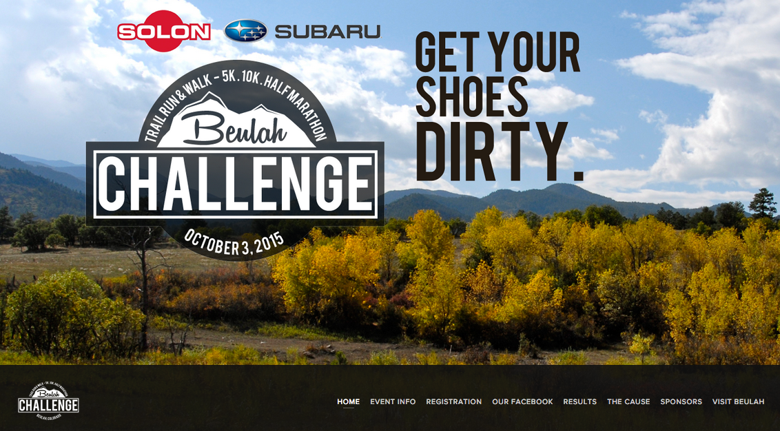 Beulah Challenge trail run and walk - Fundraising and athletic event - Graphic design, site design, and print design